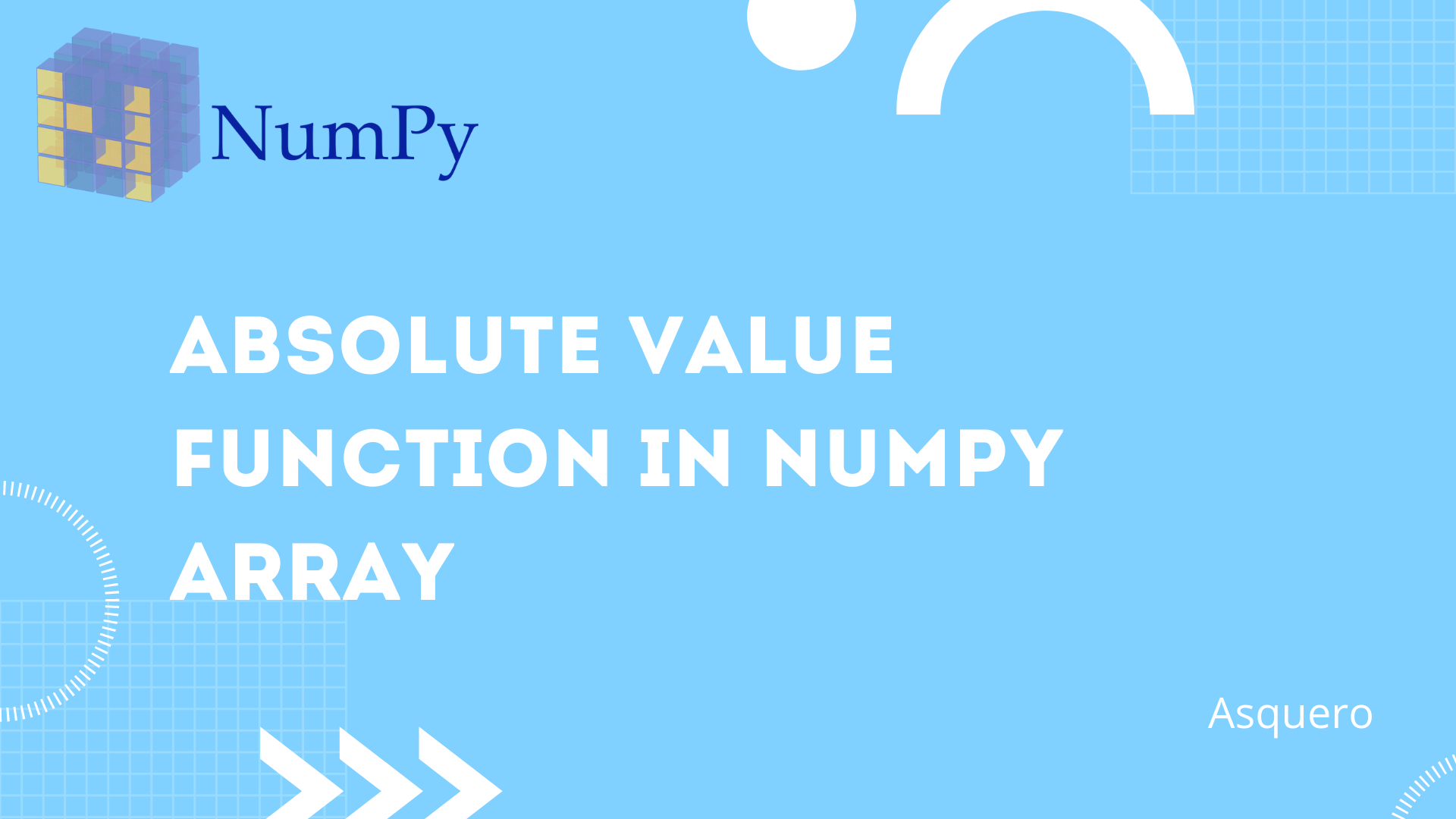 Absolute Value Function in NumPy Array