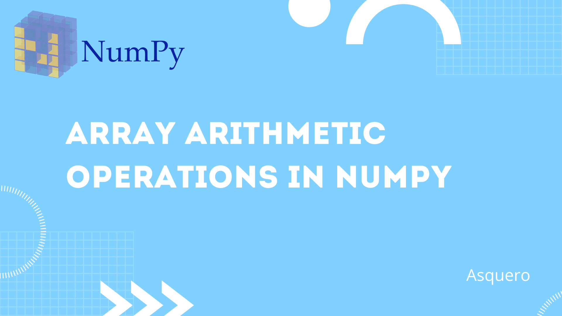 Array Arithmetic Operations in NumPy