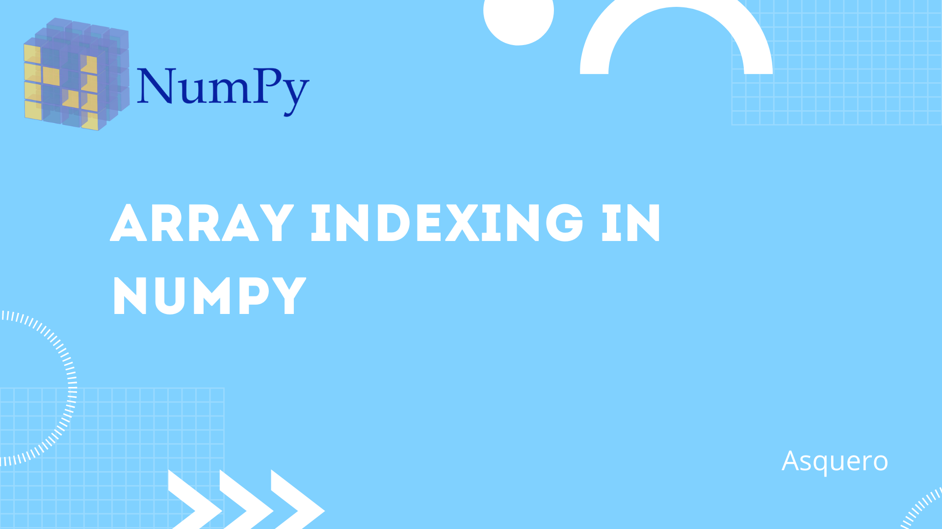 Array Indexing in NumPy