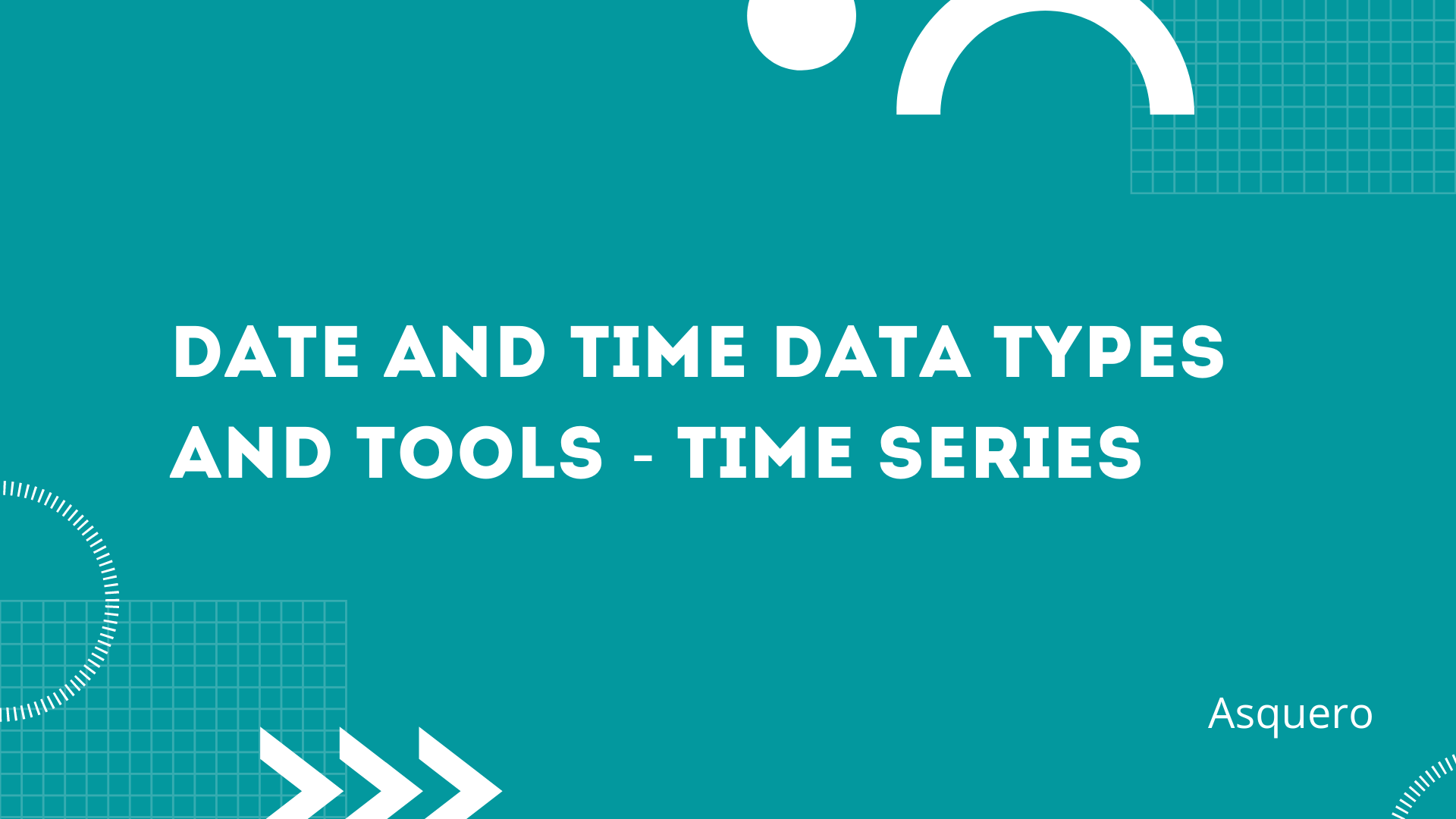 Date and Time Data Types and Tools  -  Time Series