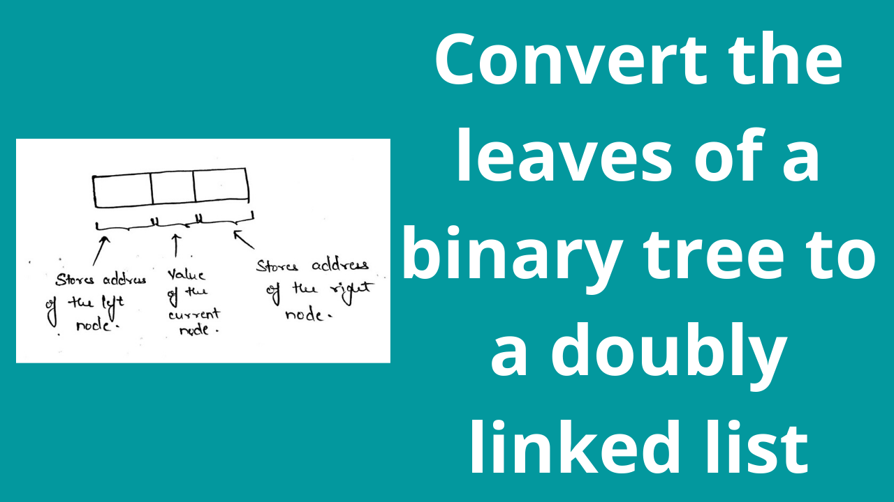 Convert the leaves of a binary tree to a doubly linked list