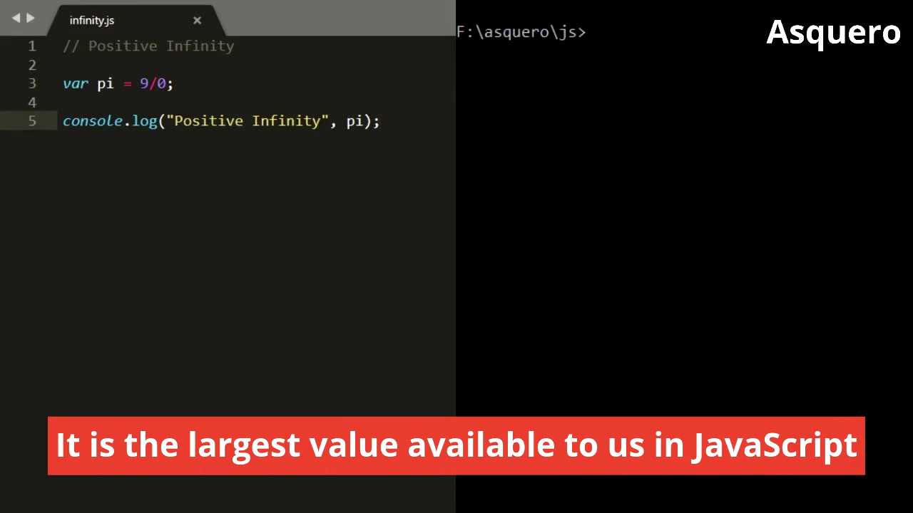 What is Positive & Negative Infinity in JavaScript?