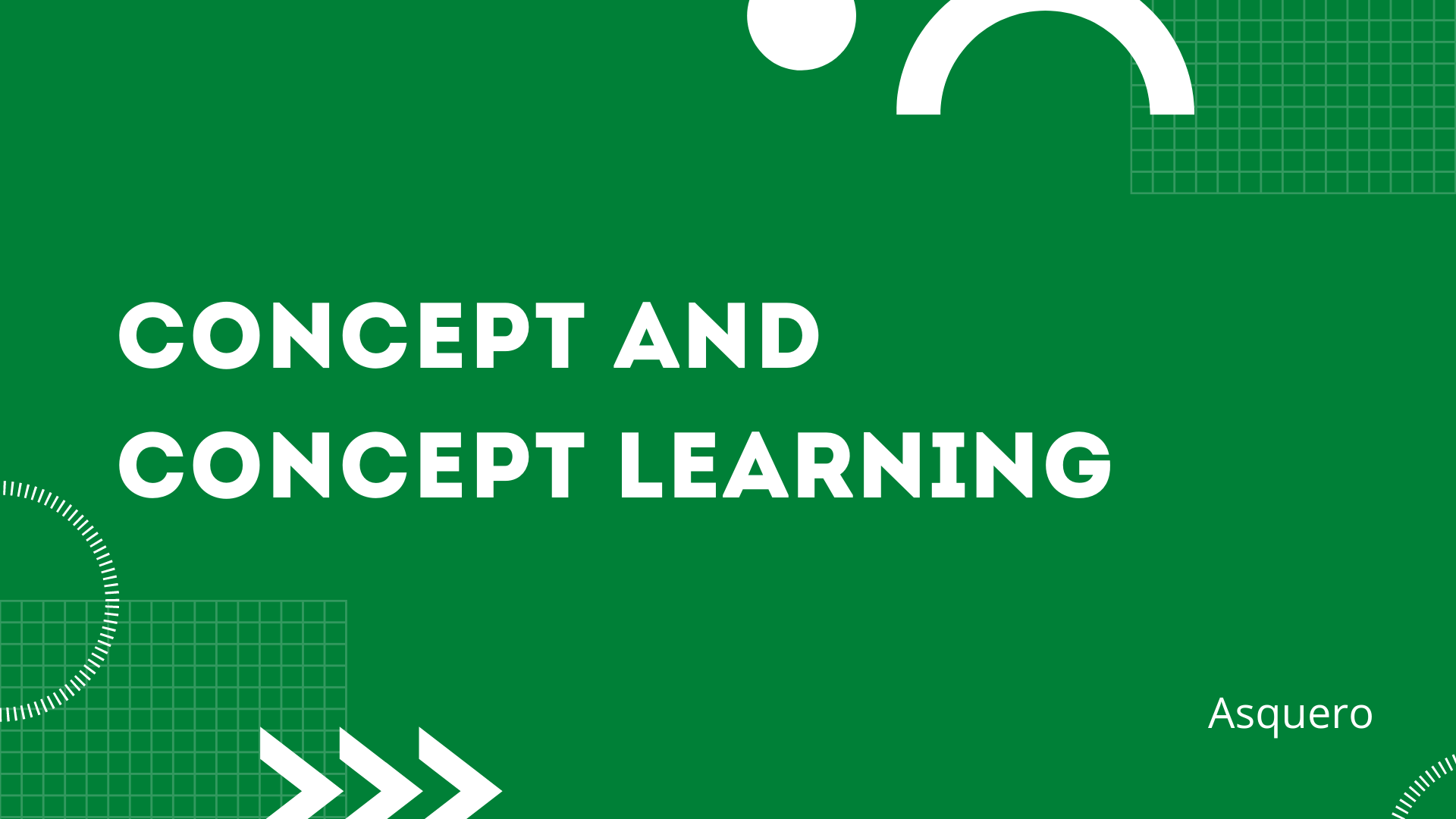 Concept and Concept Learning